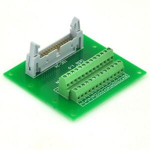 "IDC26 2x13 Pins 0.1"" Male Header Breakout Board, Terminal Block, Connector. x1"