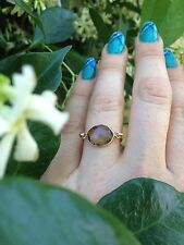 Smokey Quartz Gemstone Gold Filled Wire Ring