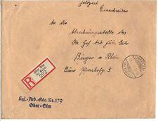 Germany 1941 Pow Prisoner Of War Command # 179 Reg Official Cvr Ober Olm 21.2.41