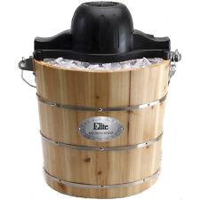 Elite Gourmet EIM-502 4-Quart Old-Fashioned Ice Cream Maker (eim502)