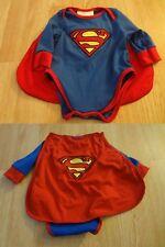 Infant/Baby Superman 0/6 Months Creeper One-Piece Bodysuit w/Cape Rubie's