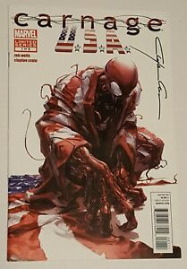CARNAGE USA #1 MARVEL 1ST PRINT 2012 CRAIN COVER SIGNED BY CLAYTON CRAIN + COA