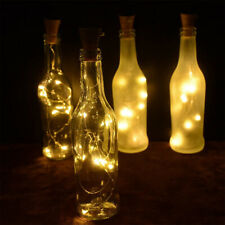 Solar LED Fairy Wine Bottle String Lights Copper Wire Xmas Wedding Party Decor
