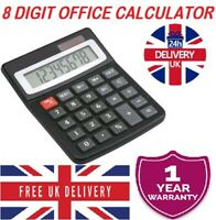 Brand New 8 Digit Desk Calculator Jumbo Large Buttons Free delivery Uk