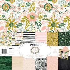 KAISERCRAFT Fleur Paper Pack with Bonus Sticker Sheet 12x12 ~ Flowers PK581
