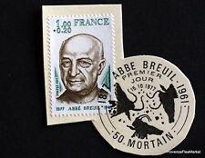 TIMBRE FRANCE OBL. 1° JOUR  Yt 1954 ABBE BREUIL