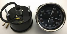 Vintage Replica Smith Speedometer 0-120 Mph BSA Royal Enfield Norton Chrome Rims