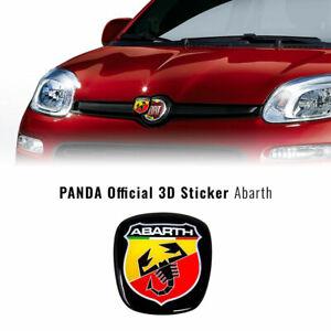 Adesivo Abarth 3D Ricambio Logo Anteriore + Posteriore per Panda dopo il 2012