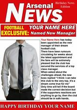 A5 Personalised Arsenal Football Manager Card PIDH1  Football Greeting Birthday