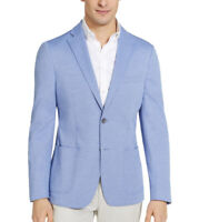 Calvin Klein Men's Slim-Fit Knit Sport Coat In Light Blue Size 38r