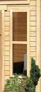 Karibu feststehende Fenster natur für 38mm Holzwand / nur Lieferung