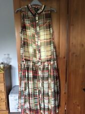 WOW!!  NEW Gorgeous drop waist midi dress  with full length dress skirt size 12