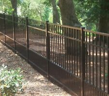 BLACK ALUMINUM PUPPY FENCE 4 ft x 6ft  (NOT AN ADD-ON!) ASSEMBLED FULL PANEL