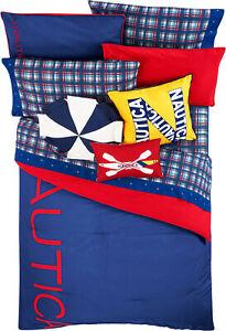 Nautica Reversible Colorblock 100% Fine Imported Cotton Kids Comforter Set
