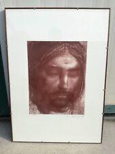 PIETRO ANNIGONI litografia lito litho VOLTO 50x70cm originale firmata sanguigna