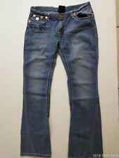True Religion Billy Super T Jeans 32x31 Light Wash Distressed @17