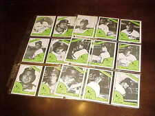 1978 Burlington Bees TCMA Minor League Baseball Card Set in Plastic
