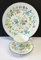Lenox Oxford Bone China 'Garden Party' 3-pc Dinner Plate, Cup, Saucer 1976-1981