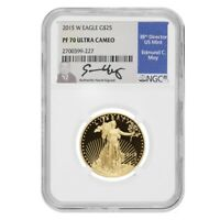 2015 W 1/2 oz $25 Proof Gold American Eagle NGC PF 70 UCAM (Edmund Moy Sign