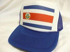 Costa Rica Flag World Cup Soccer hat Trucker Hat Snap back hat Adjustable royal