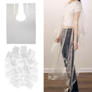 200x Disposable Hair Cutting Cape Gown Salon Barber Capes Cloth Hairdressing