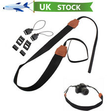 UK Anti-Slip Nylon Neck Shoulder Camera Strap Belt For Canon Sony Nikon SLR DSLR