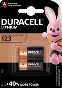 DURACELL 123A Pile Lithium 3V - Blister de 2 piles - DATE 03/2029