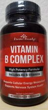 Divine Bounty Vitamin B Complex High Energy Diet Supplement - 90 Capsules   2022