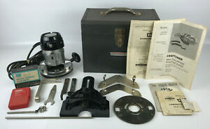 Vintage Sears Craftsman 1470 Professional USA 5/8 HP Ball Bearing Router w/Case
