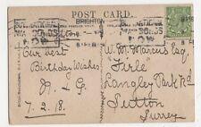W.M. Marcus Esq., Firle, Langley Park Road, Sutton Postcard, B106