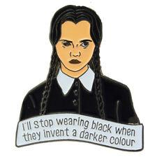 Wednesday Addams Enamel Pin Brooch Badge Lapel Retro Gothic Punk TV Movie Family