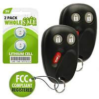 2 Replacement For 2003 2004 2005 2006 Chevrolet Tahoe Key Fob Remote
