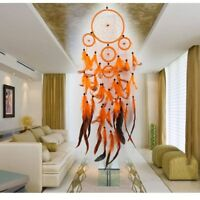 1PC Traditional Handmade Orange Beautiful Dream Catcher with Feathers Home Decor