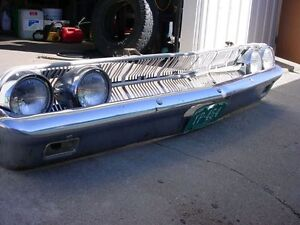 1963 Ford Mercury Front Bumper and Grille and headlgihts