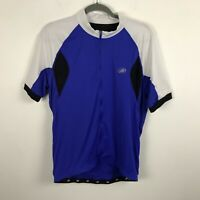 Performance Bicycle Jersey Size XL Cycling Blue Black White Back Pockets Mens