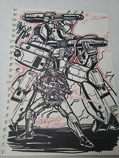 Alex Milne Original Artwork 2008 SIGNED Transformers Comic Book Artist A2b56