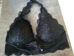 Brassiere femme bralette dentelle noir dispo L/XL...M/L...S/M SOUTIEN GORGE