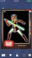 Topps Star Wars Digital Card Trader Rust Ahsoka Tano Base 4 Variant