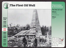 THE FIRST OIL WELL Edwin Drake Titusville, Pa 1996 GROLIER STORY OF AMERICA CARD