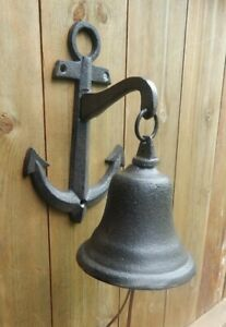 Anchor wall bell Cast iron Nautical Boat Sea theme UK SELLER