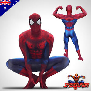 3D Printing Marvel Amazing Spiderman Costume Halloween Adult Cosplay Zentai Suit