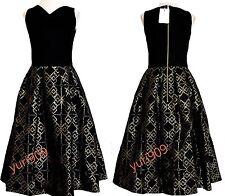 Ted Baker London Black Flamie  Jacquard Ballerina Skirt Dress 4 (US 10) $429