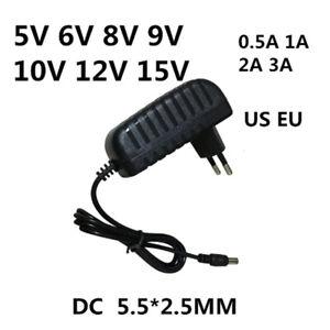 AC 110-240V DC 5V 6V 8V 9V 10V 12V 15V 0.5 1A 2A 3A Universal Power Adapter Supp
