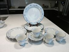 NORITAKE BLUE HILL LOT OF (4) PLACE SETTINGS