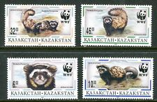 KAZAKHSTAN 1997 WWF MARBLED POLECAT MINT COMPLETE SET - $5.90 VALUE!