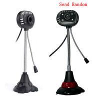 USB HD LED Web Camera MIC for Computer PC Laptop Desktop BT Webcam Microphone