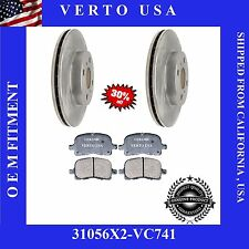 Verto USA Set of 2 Front Brake Rotors and Ceramic Pads 31056x2-VC741