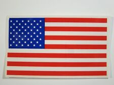 """USA American Flag Vinyl Window Sticker Decal    3""""x 5""""  MADE IN USA   LOT of 4"""