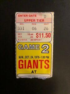 """Old Vintage 10/24/1976 """"GIANTS"""", USED FOOTBALL  TICKET-STUB ,Game 2, Seat 26"""