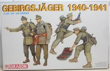 Dragon No 6345 German Gebirgsjager 1940-1941 1/35 Plastic Kit To Make 4 Figures